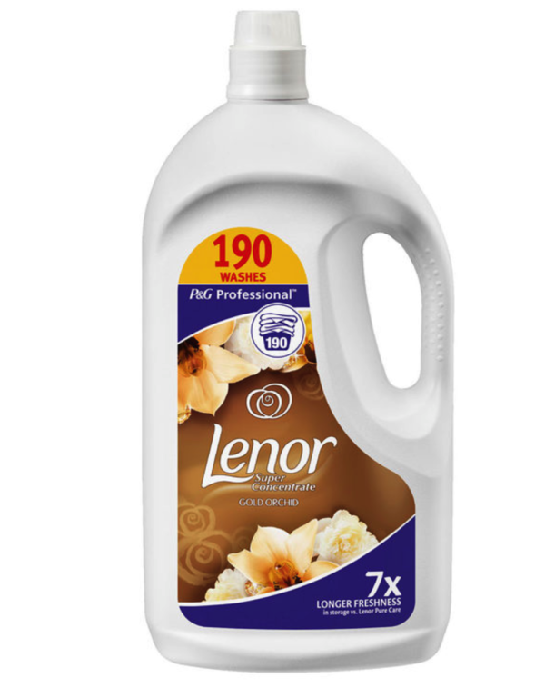 Lenor Gold Orchid Super Concentrate Fabric Conditioner, 3.8L (190 Wash)