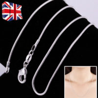 """2/3MM 925 SOLID STERLING SILVER SNAKE CHAIN NECKLACE ALL INCH SIZES 16""""/18""""/20"""""""