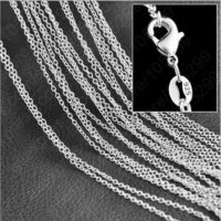 Wholesale 10X 16-24inch Jewelry 925 Sterling Silver Plated Snake Chain Necklaces