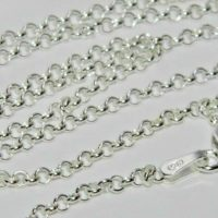 "Sterling Silver Belcher Chain Necklace - 2mm Width ~ 16"" 18"" 20"" 22"" 24"" 30"" 36"""