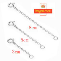 """925 Sterling Silver 1/2/3"""" TRACE CHAIN EXTENDER (bracelet, necklace extension) A"""