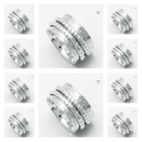 10 Items Solid 925 Sterling Silver Spinner Ring Handmade Size-N,P,R,T,V,X, aa-02