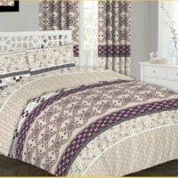 Waves Cotton Bedding Set, Quilt Duvet Cover With Pillow Cases & Fitted Sheet