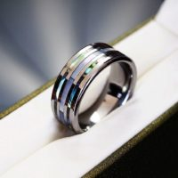 Original Tungsten Carbide Ring Wedding Band Engagement Inlaid Size Q S T V Y Z+1