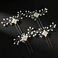 Pearl Rhinestone Headdress Hair Accessories for Wedding Bridal Jewelry Ladies UK