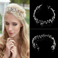 1PC Headband Hair Vine Vintage Wedding Crystal Pearl Headpiece Jewelry Headdress