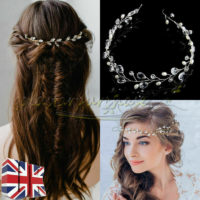 Bride Wedding Crystal HairPin Headpiece Headband Bridal Hair Accessories Jewelry