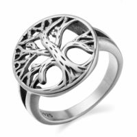 925 Sterling Silver Round Hollow Tree Of Life Ring Size M O P ½ R ½ T ½ V ½