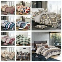 4 Pcs Complete Bedding Set Duvet Quilt Cover With Bed Sheet Single Double King