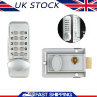 UK Mechanical Digital Door Lock Push Button Keypad Keyless Code Combination Lock
