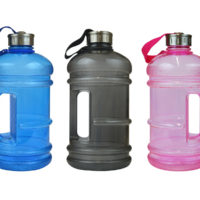 Large Water Bottle Sports Easy Carry Handle Strap Gym Yoga Fitness Bike 2.2L