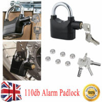 110db Alarm Padlock High Security Siren Lock Motorbike Anti Theft Bike Shed