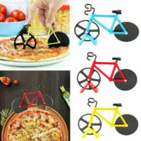 Stainless Steel Bicycle Pizza Cutter Bike Dual Slicer Chopper Home Kitchen ZE