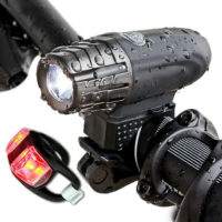 BRIGHT USB Rechargeable Bike Bicycle Cycle Front LED Rear Tail Lights Light Set