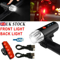 LED MTB Rear&Front Set Bicycle Lights Bike Headlight USB Rechargeable Waterproof