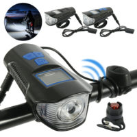 Bike Bicycle Lights USB Rechargeable Set Mountain Cycle Front Back Headlight WT