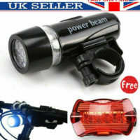 Bike Lights USB Rechargeable LED Bicycle Front Light+Rear Tail Lamp Waterproof