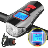 Bike Bicycle Lights USB Rechargeable Set Mountain Cycle Front Back Headlight MO