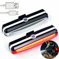 LED Mountain Bike Bicycle Front + Rear Lights Set USB Rechargeable Waterproof UK