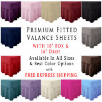 "Fitted Valance Sheet 26"" Extra Deep Bedding Base Box Single Double King Super"