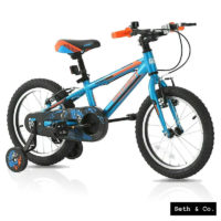 "GREENWAY® Kids Bike for Boys Children's Bicycle - 16"" inch - Blue & Orange UK"