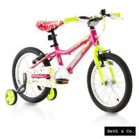 "GREENWAY® Kids Bike for Girls Children's Bicycle - 16"" inch - Pink & Green UK"