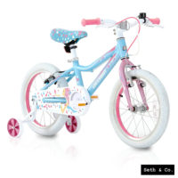 "GREENWAY® Kids Bike for Girls Children's Bicycle - 16"" inch - Blue & Pink UK"