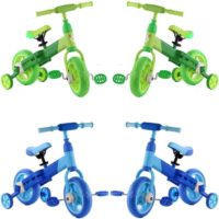 "FLICKER KIDS 2 IN 1 10"" TRAINING BALANCE BIKE BOYS CYCLING SPORT RIDE ON TOY NEW"