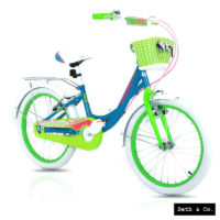 "GREENWAY® Kids Bike for Girls Children's Bicycle - 20"" inch - Blue & Green UK"