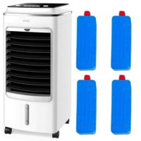 Air Cooler Portable Humidifier Evaporative Cool Fan 3 Speed Oscillation Mylek