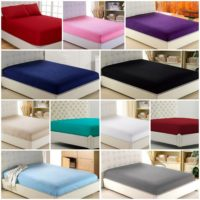 30cm Fitted Sheet Bed Sheets Deep 100% Poly Cotton Single Double King S king