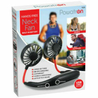 Portable Bladeless Mini Fan Neckband Lazy Neck Hanging Cooler USB Rechargeable