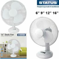 Electric Desk Fan Oscillating Cool Air Breeze Silent Portable Home Office Cooler