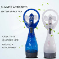 Handheld Water Spray Cooling Mist Fan Portable Travel Gadget Battery Powered