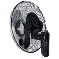 Black 16 Inch 3 Speed Cooling Wall Mounted Fan Air Cooling