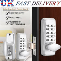 Alloy Waterproof Mechanical Digital Door Lock Button Keypad Keyless Code Lock UK