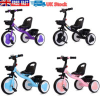 Children Tricycle 3 Wheels Boys Girls Kids Trike Ride-On Pedal Bike Kids Gifts