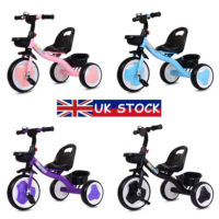 Kids Trikes My First 3 Wheels Pedal Bike Baby Tricycle Toddlers Boys Girls Gifts
