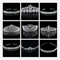 Silver Wedding Bridal Tiaras Diamante Crown Headband Hair Accessories Jewellery