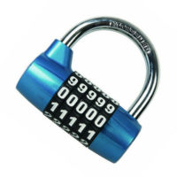 ZINC ALLOY 5 DIGIT COMBINATION PADLOCK 65mm HARDENED SHACKLE SECURITY BIKE LOCK