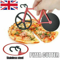 1/2X Bike Pizza Cutter Road Bicycle Chopper Slicer Kitchen Tool Stainless Steel