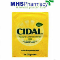 CIDAL SOAP TWIN PACK NATURAL ANTIBACTERIAL SOAP BARS 2 X 125 GM