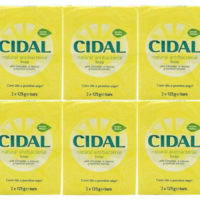Cidal AntiBacterial Soap Grapefruit Extract 125g Bar X12