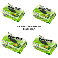 AFRICAN BLACK SOAP DUDU OSUN 150G FOR ECZEMA ACNE FUNGUS PSORIASIS (4 BARS)