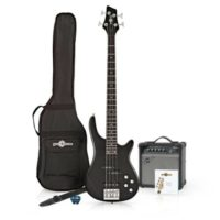 Chicago Bass Guitar + 15W Amp Pack Black