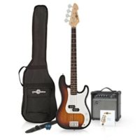 LA Bass Guitar + 15W Amp Pack Sunburst