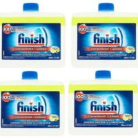Finish Lemon Sparkle Dishwasher Cleaner Liquid 4 x 250 ml