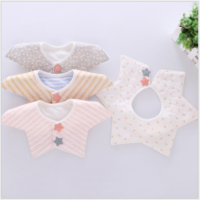 BABY Boys Girls BIBS bib 3 Pack Star COTTON FEEDING Dribble Bandana Apron