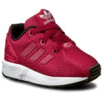 Adidas Originals ZX Flux EL I Girls Mesh Trainers Kids - Pink - UK.6