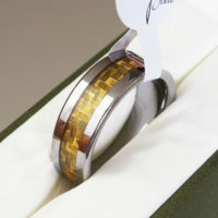 Original Tungsten Carbide Ring Wedding Band Engagement Size Q S T V Y Z Men Gold